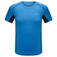 埃尔蒙特ALPINT MOUNTAIN 春夏男款快干T恤 户外短袖吸湿排汗T恤 630-524 蓝色 L