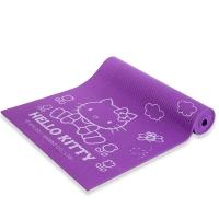凯蒂猫(hello kitty)正反面防滑加厚瑜伽垫 AHBD30838-8mm 粉紫色