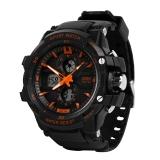 时刻美(skmei)手表运动户外跑步夜光电子表 0990橙色大号