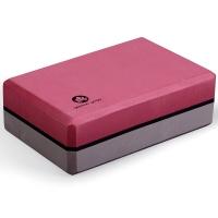杰朴森(GEPSON)瑜伽砖 高密度瑜伽砖辅助工具瑜伽砖头瑜伽用品 酒红/深灰