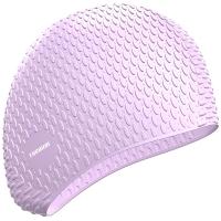 拓胜(TOSWIM)女士专用防水长发游泳帽加大硅胶护耳舒适时尚泡泡泳帽 TS61400652 尊贵紫