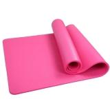 凯速NBR环保 188*100cm加长加宽防滑防潮健身瑜伽垫 15MM 桃红色 EA08
