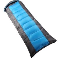 红色营地 睡袋 户外秋冬季加厚睡袋成人午休睡袋  2.3kg 蓝色