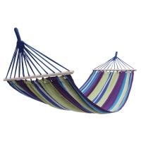 康爾KingCamp吊床秋千 木棍平展防側翻 兩端加固耐磨 戶外室內吊椅 2m*1m 送吊床繩KG3762紫黃條紋