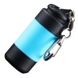 菲莱仕 FEIRSH 强光小手电筒充电防水迷你钥匙灯小礼品M5蓝
