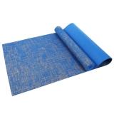 凯速PVC亚麻 183*61cm加长防滑防潮健身瑜伽垫 5MM 蓝色 YM12