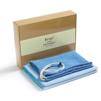 非他/FETA 瑜伽铺巾加宽80cm硅胶瑜伽毯 甜美蓝