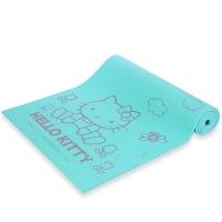 凯蒂猫(hello kitty)正反面防滑加厚瑜伽垫 AHBD30838-8mm 粉绿色