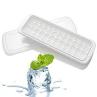 克来比 家用创意冰格 制冰机家用 冰块盒 冰箱制冰盒 DIY制冰器 KLB1012 48格冰格 带盖 白色
