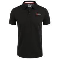 埃爾蒙特 ALPINT MOUNTAIN 戶外運動POLO快干速干透氣有領短袖速干衣體恤體能訓練服 640-512 黑色 XL