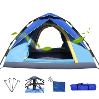 创悦 全自动户外帐篷免安装露营帐篷2-3人野营帐篷CY-5905A 蓝色