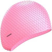 拓胜(TOSWIM)女士专用防水长发游泳帽加大硅胶护耳舒适时尚泡泡泳帽 TS61400637 浪漫粉