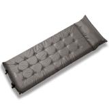 牧高笛戶外裝備 帶枕頭加寬加厚單人露營自動充氣防潮墊 MJ MF092006 灰色