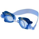 奇海儿童泳镜男童女童宝宝平光游泳镜蓝色 海豚 2807S 送价值15元泳帽一个