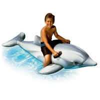 INTEX 58535海豚坐骑儿童充气水上坐骑 宝宝戏水玩具175*66cm