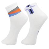 星加坊 羽毛球袜子 两双装 男士运动休闲棉袜子 中筒袜 2030