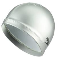 速比涛speedo 泳帽 PU材质柔软舒适 不勒头 长发防水游泳帽 男女士时尚石灰11400781
