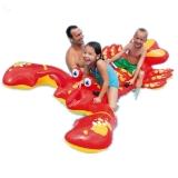 INTEX 57528游泳玩具充气大龙虾座骑 儿童宝宝水上双人坐骑