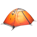 牧高笛户外装备 防风防暴雨三季铝杆双人双层帐篷 冷山2 驴友强推 MZ093005  红色