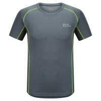 埃尔蒙特ALPINT MOUNTAIN 春夏男款快干T恤 户外短袖吸湿排汗T恤 630-524 灰色 XL