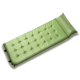 牧高笛戶外裝備 帶枕頭加寬加厚單人露營自動充氣防潮墊 MJ MF092006 綠色