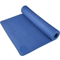 奥义瑜伽 183*80cm加大瑜伽垫 加厚防滑8mm环保TPE健身垫 附带背包 蓝色