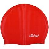 奇海泳帽男女通用内颗粒帽红色