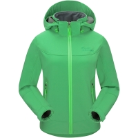 埃尔蒙特 ALPINT MOUNTAIN 儿童款软壳冲锋衣男女童防风防水保暖复合抓绒软壳衣 620-006 绿色 M