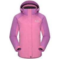 埃尔蒙特 ALPINT MOUNTAIN 童装冲锋衣户外三合一男女童防风保暖冲锋衣 620-605 粉红 XL