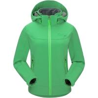 埃尔蒙特 ALPINT MOUNTAIN 儿童款软壳冲锋衣男女童防风防水保暖复合抓绒软壳衣 620-006 绿色 S