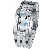 时?#22530;?skmei)手表户外运动时尚创意LED腕表 0926银色大号