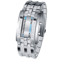 时刻美(skmei)手表户外运动时尚创意LED腕表 0926银色大号