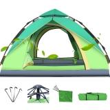 創悅 全自動戶外帳篷免安裝露營帳篷2-3人液壓野營帳篷 CY-5905A 綠色