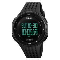 时?#22530;?skmei)运动手表户外多功能跑步电子表 1219黑色