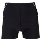 英发(YINGFA)休闲两侧线条对称平角泳裤Y3567 -1黑色 XXXL