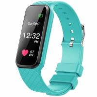 博之轮(BOZLUN)智能运动手表触控彩屏心率情侣手环 L38i绿色