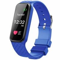 博之轮(BOZLUN)智能运动手表触控彩屏心率情侣手环 L38i蓝色