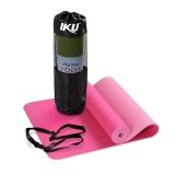 IKU 护理型10MM加厚专用环保瑜伽垫183MM*61MM新款TPE瑜珈垫 粉色