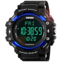 时刻美(skmei)运动手表户外多功能跑步测心率电子表 1180蓝色