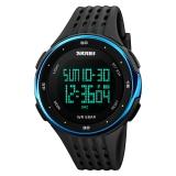 时?#22530;?skmei)运动手表户外多功能跑步电子表 1219蓝色