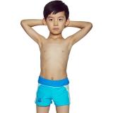 奇海儿童泳衣男童泳裤平角男孩大小童宝宝温泉泳装QH106113蓝色XL码