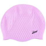 奇海泳帽男女通用均码舒适柔软硅胶泡泡帽浅粉色