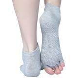 皮尔瑜伽 pieryoga防滑漏指五指瑜伽袜单装 灰色