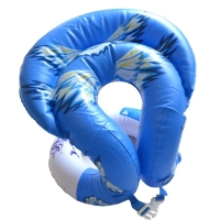 KASITE超弹款儿童/成人泳圈 加厚救生圈 背心式游泳圈 游泳装备 蓝色L码 KY-02