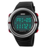 时刻美(skmei)运动手表户外多功能跑步测心率电子表 1111红色