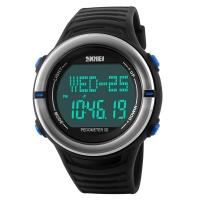 时刻美(skmei)运动手表户外多功能跑步测心率电子表 1111蓝色