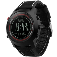 博之轮(BOZLUN)智能手表户外运动计步气压高度指南针多功能腕表 MG03黑壳黑面黑带