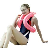 泳乐宝第六代立柱型游泳圈救生圈儿童成人学游泳背漂浮手臂圈 L红身高155-170cm
