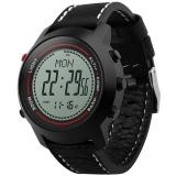博之轮(BOZLUN)智能手表户外运动计步气压高度指南针多功能腕表 MG03黑壳白面黑带