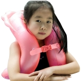 泳乐宝第六代立柱型游泳圈救生圈儿童成人学游泳背漂浮手臂圈 M红身高135-155cm